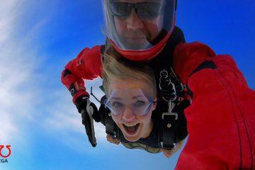 prezent marzeń skok ze spadochronem